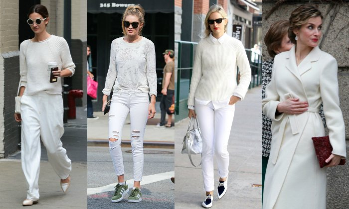 La tendencia del 'winter white', o cómo llevar blanco sobre blanco antes de que se acabe el invierno