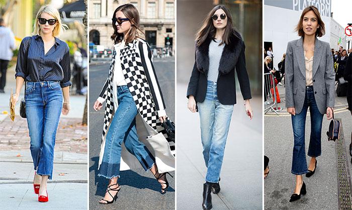 Manual de estilo  Así se llevan los 'cropped flared jeans' 846157b11093