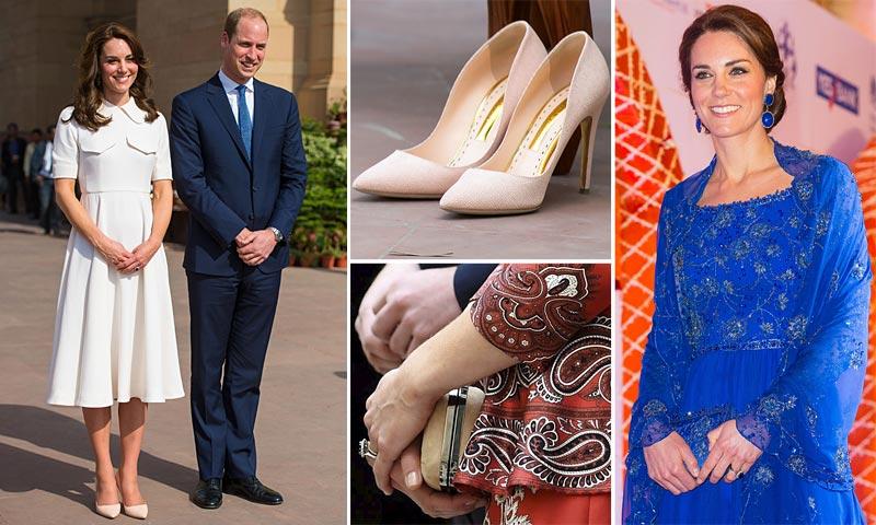 Duquesa de Cambridge: Foto a foto, todos los 'looks' en su viaje a India y Bután