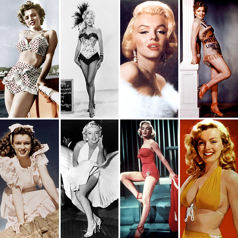 Marilyn Monroe, de modelo a actriz... y a ¡icono de moda ...