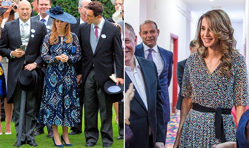 Moda 'royal': Las princesas y reinas apuestan por los estampados