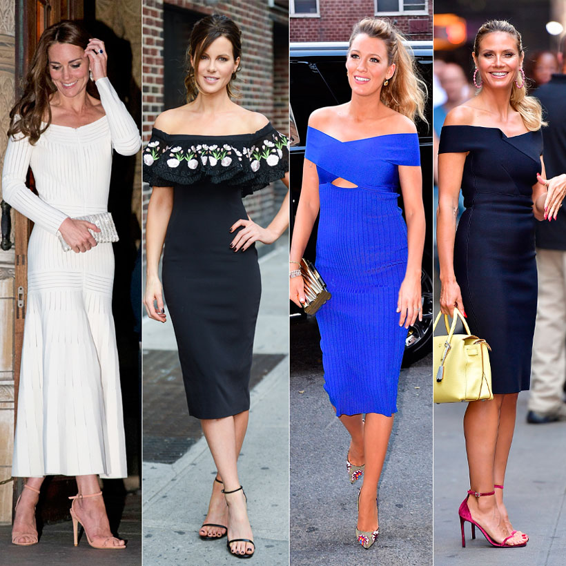 395869183 Bardot vestido midi  Catalina de Cambridge  Kate Beckinsale  Blake Lively  ...