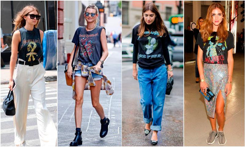 Guía de estilo: Cómo vestir una camiseta 'rock-band' en 10 'looks'