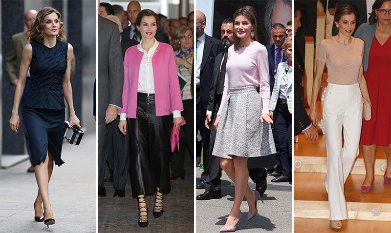 Duelo de estilo: doña Letizia ¿con falda o pantalón?