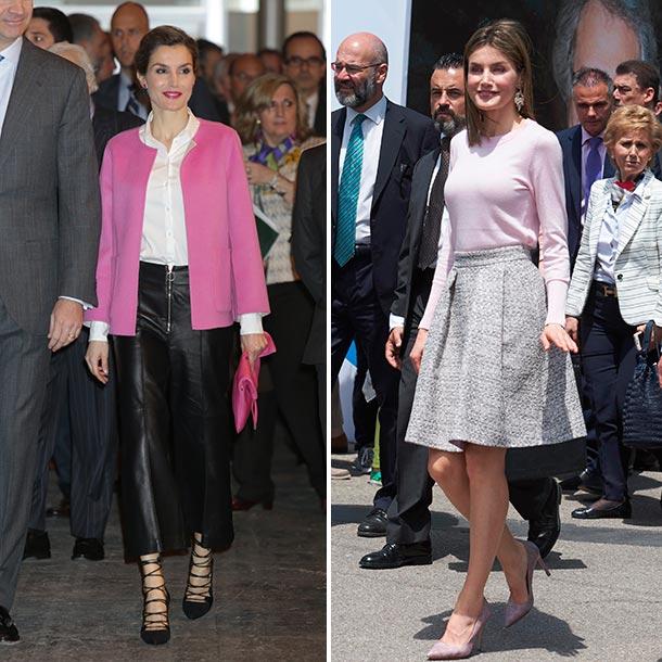 563d1bb7 Duelo de estilo: doña Letizia ¿con falda o pantalón? - Foto