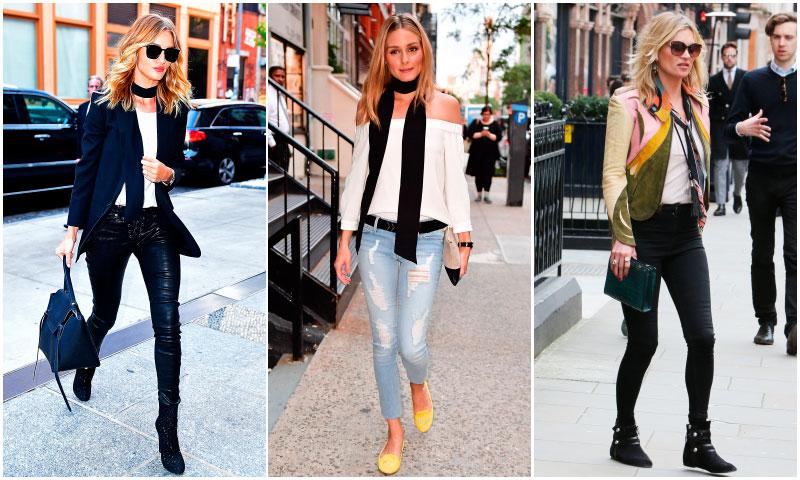 'Bye' collares! Las 'celebrities' se quedan con el pañuelo retro