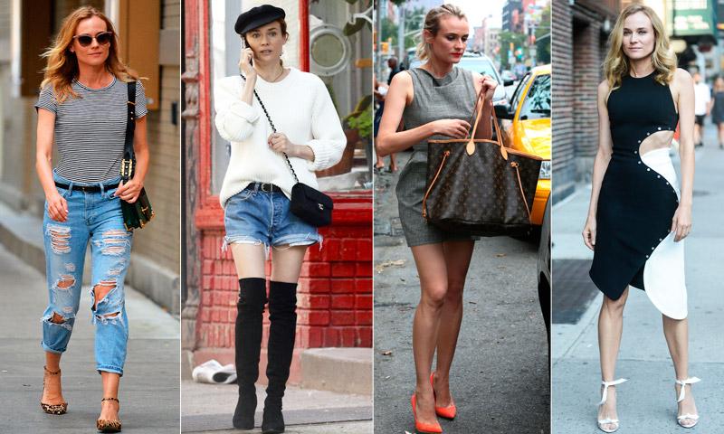 ¿No sabes qué ponerte? Diane Kruger tiene un 'look' (e incluso dos) para cada ocasión
