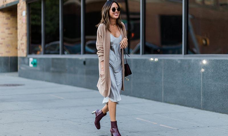 working girl': así se lleva el vestido lencero a la oficina - foto