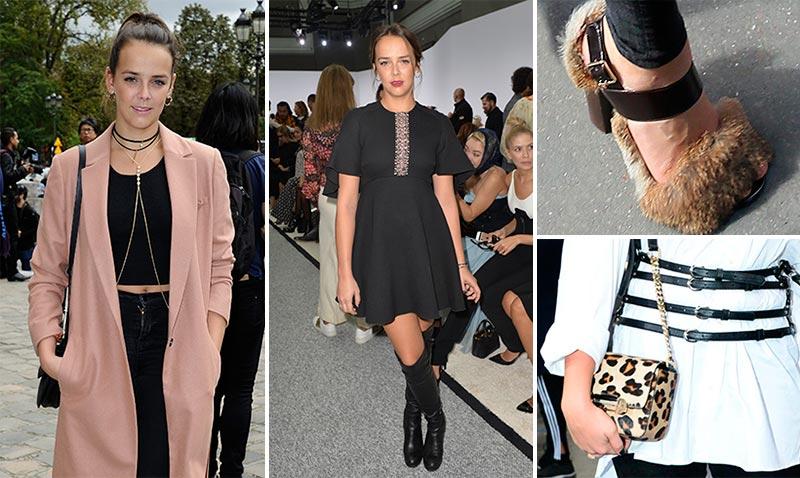 Pauline Ducruet marca estilo en la semana de la moda... ¡'real'!