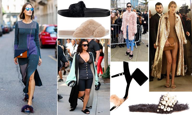La tendencia más excéntrica (y poco apropiada) del otoño: Sandalias 'furry', ¿las amas o las odias?