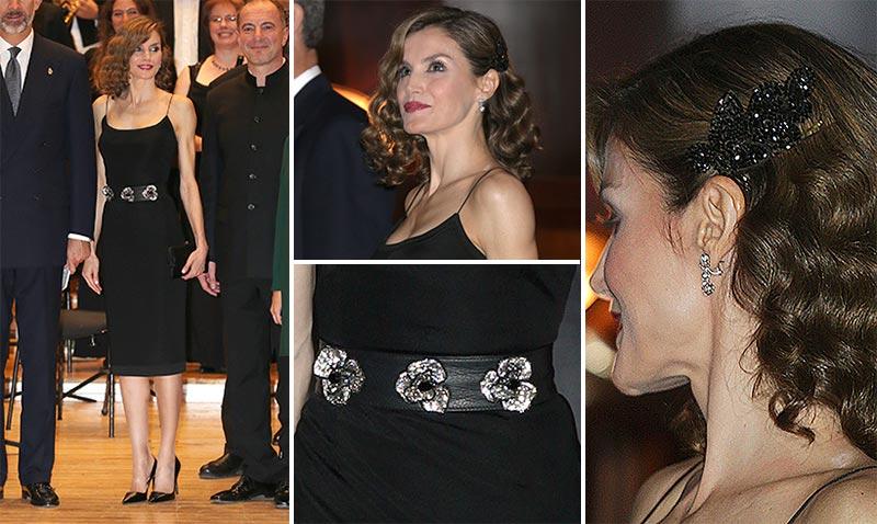 Doña Letizia se rinde al poder del 'slip dress'