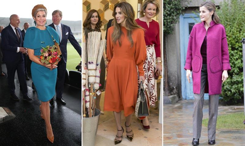 Máxima de Holanda, Rania de Jordania, doña Letizia... El otoño tiñe de colores el armario de las 'royals'