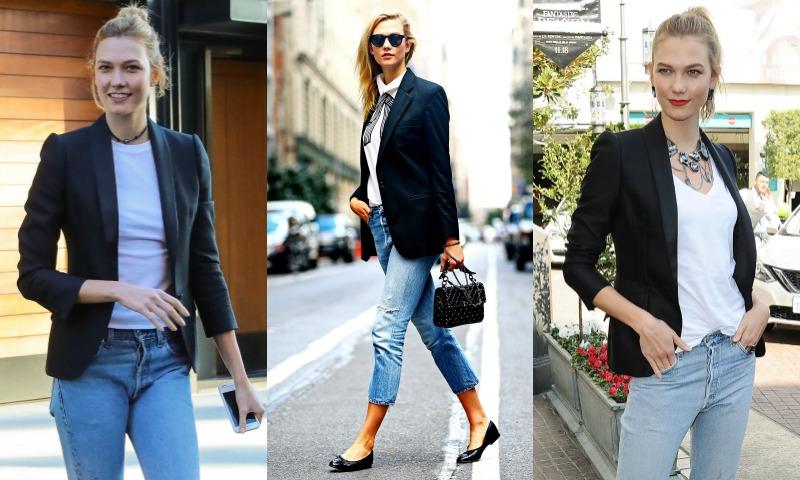De uniforme como Karlie Kloss: 1 'blazer, 5 'looks'