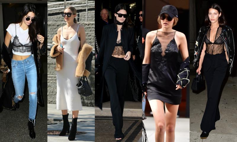 Kendall, Gigi y Bella: ¡Lencería a la vista (y no es un descuido)!