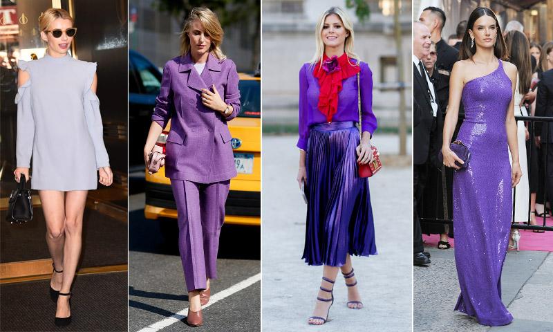 Del lavanda al púrpura, pasando por el lila… así es la gama que triunfa entre las 'celebs'