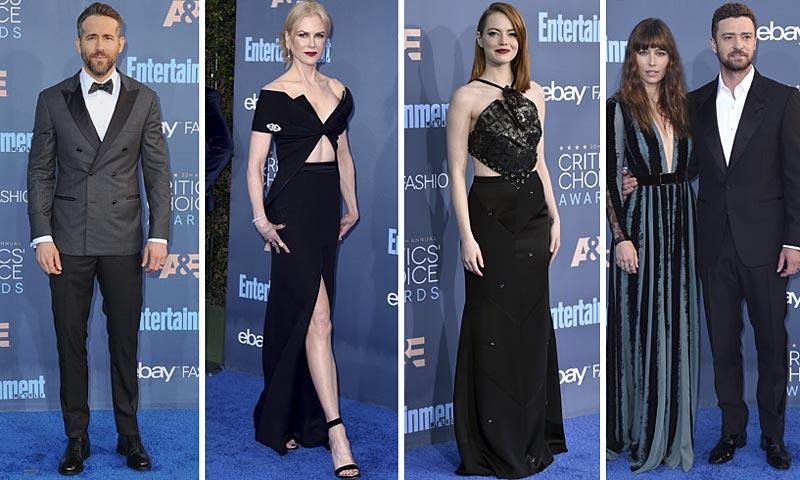 Critics' Choice Awards (22ª edición), foto a foto: ¿Qué 'looks' de alfombra roja hemos visto?