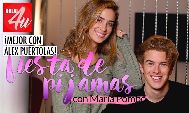 María Pombo y Alex Puértolas nos invitan a una ¡fiesta de pijamas! en HOLA!4u