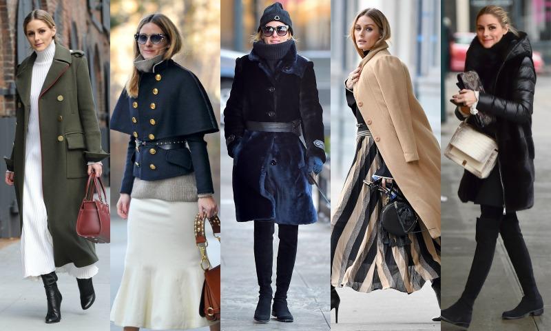 ¡Frío polar!... y Olivia Palermo nos da las claves para combatirlo (con su colección de abrigos)