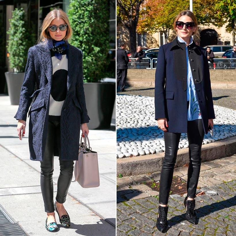 Color de abrigo para vestido azul marino