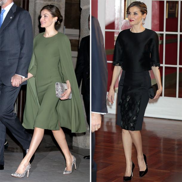 a5de48254 Dos vestidos y una Reina  el mejor  look royal  de la semana es de ...