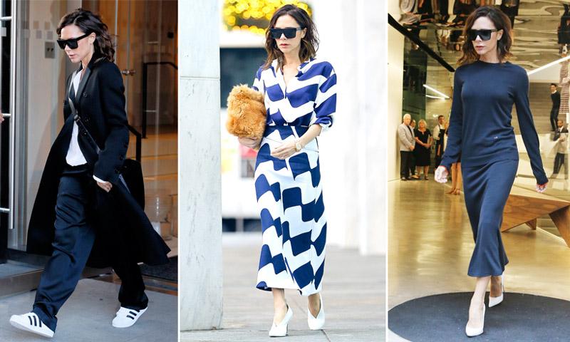 Este año solo necesitas 3 pares de zapatos (¡y todos son blancos!). Firmado: Victoria Beckham
