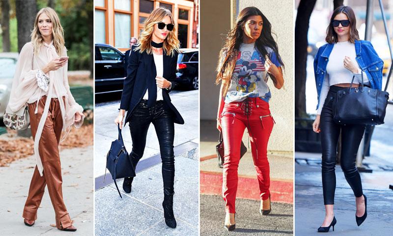 ¿Adiós, 'jeans'? Llega el reinado de los pantalones de piel