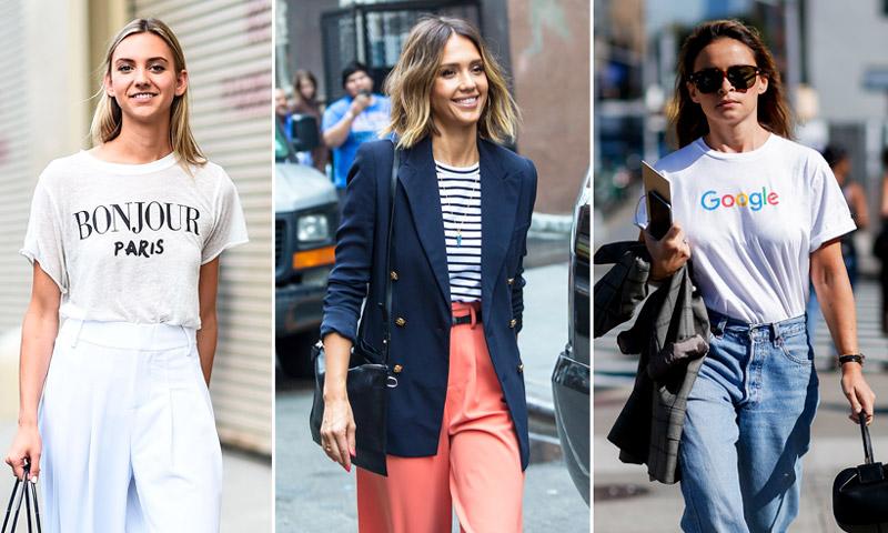 ¡Adiós camisas! Estas son las 7 camisetas que sí puedes llevar a la oficina