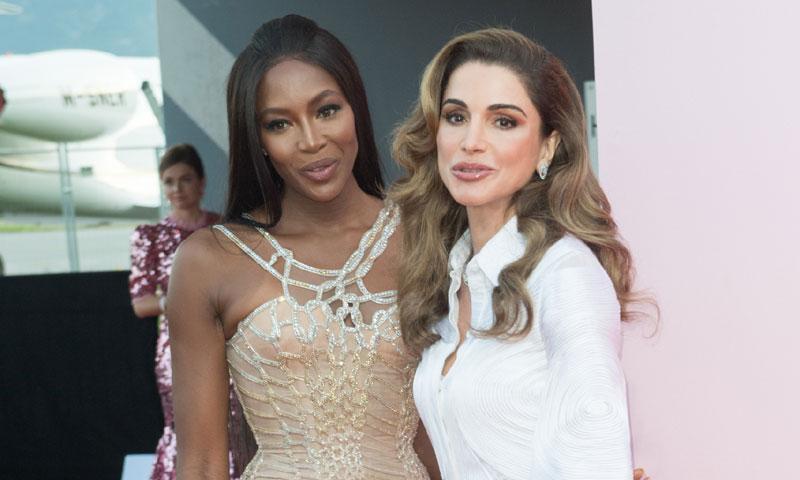 ¿Qué hacen Naomi Campbell y Rania de Jordania juntas en la misma fiesta?