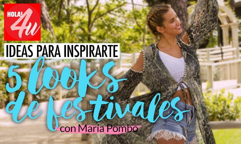 El perfecto 'look' de festival de María Pombo para HOLA!4u