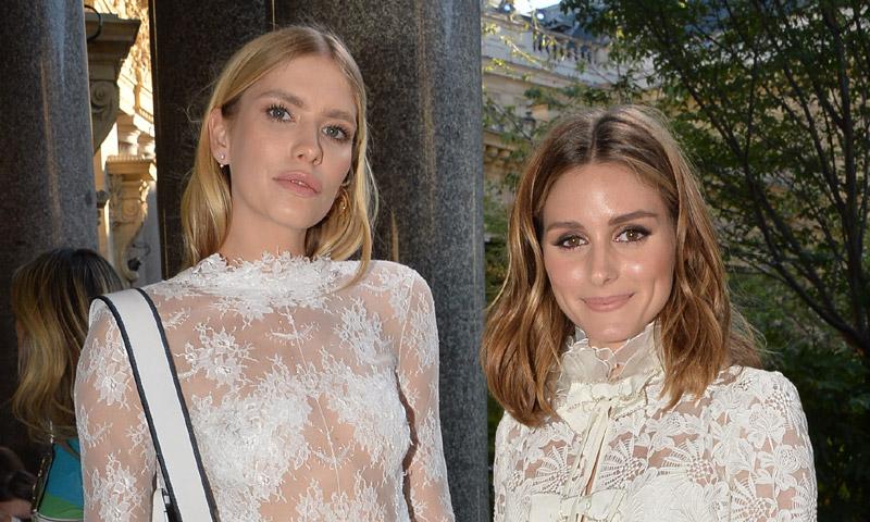 Elena Perminova y Olivia Palermo, dos formas de llevar el encaje blanco según tu altura
