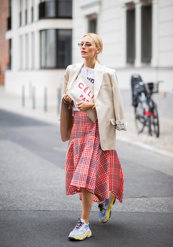 Street Style: falda a cuadros