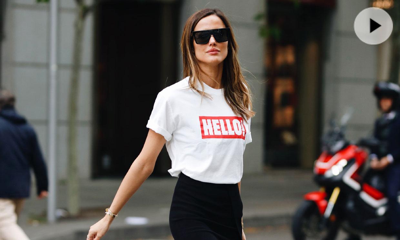 En vídeo: así crea una estilista de moda 3 looks con la camiseta de ¡HOLA! y Pull&Bear