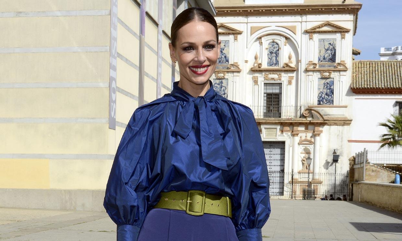 Eva González 'celebra el amor' con su poderoso look de invitada