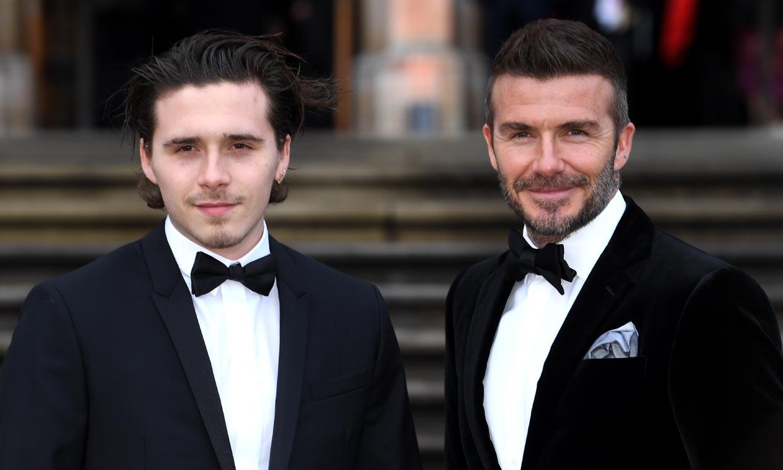 David Beckham, el mayor icono de estilo para sus hijos Brooklyn y Romeo