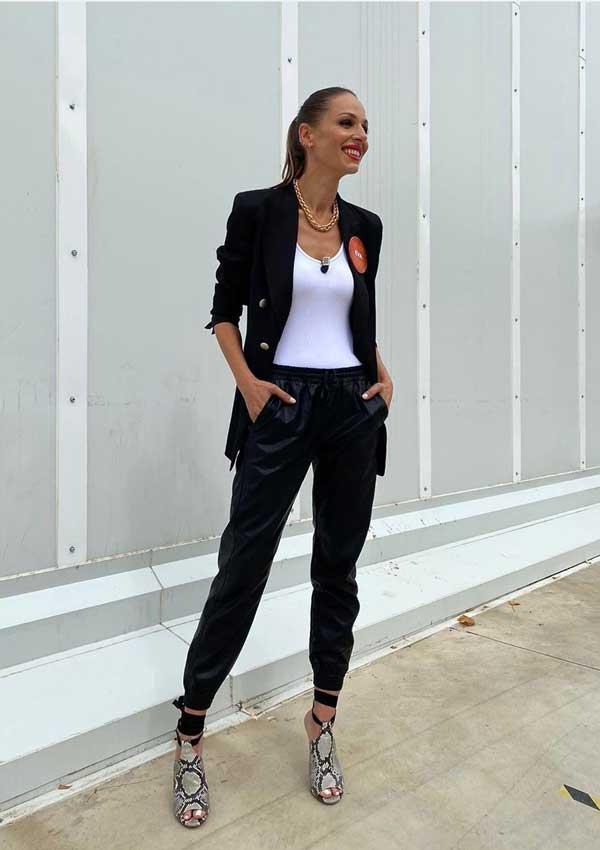 Eva González con look de Zara