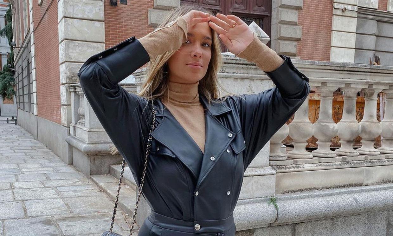María Pombo y su mono de cuero: ¿Qué popular presentadora ha copiado su look premamá?