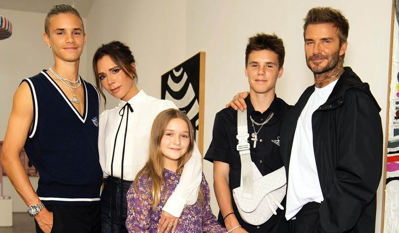 Los Beckham posan, con pijamas a conjunto, en la foto familiar más divertida de la noche