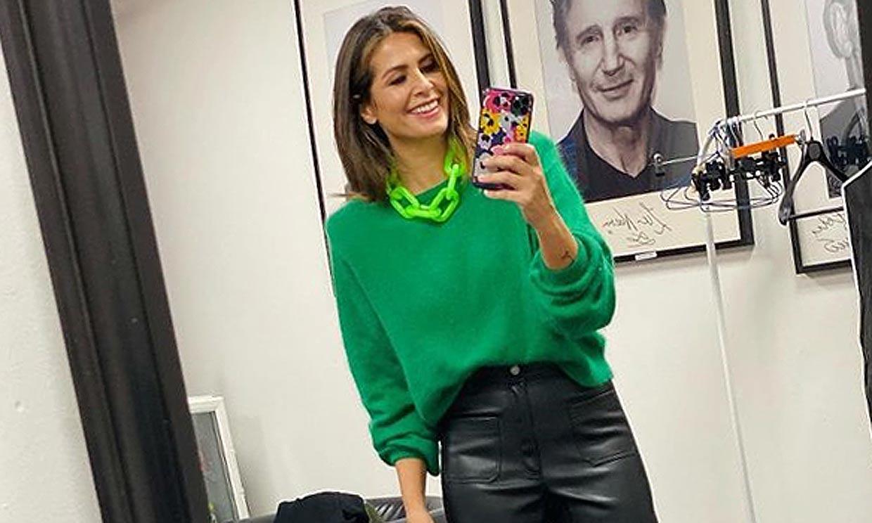 Nuria Roca se compra en Zara los pantalones de cuero que enamorarían a doña Letizia