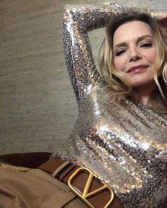 Michelle Pfeiffer en los Globos de Oro