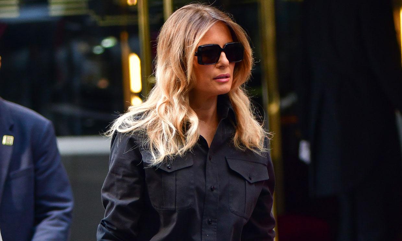Melania Trump muestra su imagen más relajada con vaqueros pitillo y zapatos planos