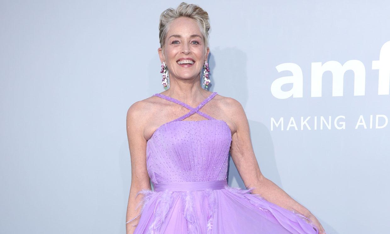 El encuentro de Sharon Stone y Naty Abascal en Cannes: dos iconos con vestidazos de lentejuelas