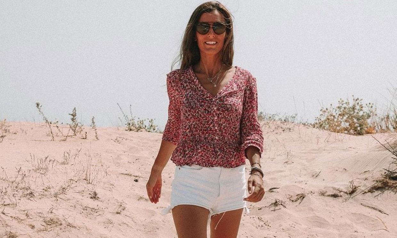Los 'shorts' blancos de Zara, los favoritos de Ana Boyer para sus vacaciones de verano