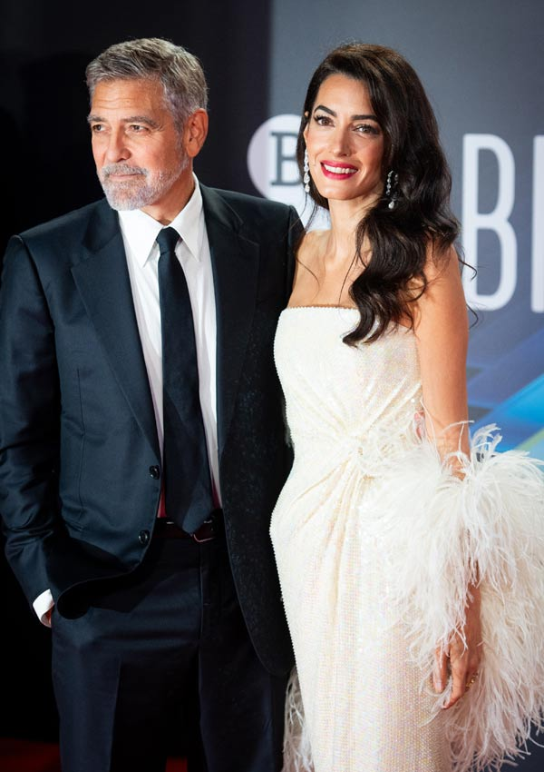 Amal and George Clooney on the red carpet