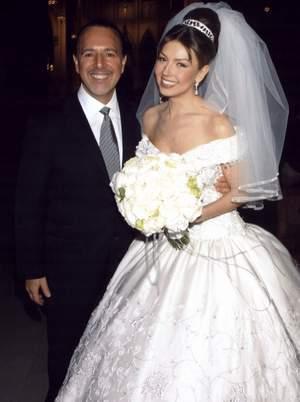 boda de la cantante thalía con el presidente de sony, tommy mottola