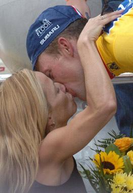 Sheryl Crow y Lance Armstrong, amor en el 'Tour de Francia'