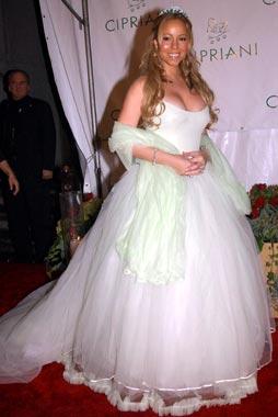 Mariah Carey, toda una novia en el cumpleaños de Puff Diddy