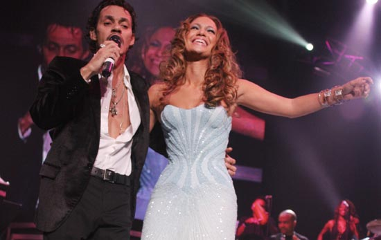 Marc Anthony y Jennifer López, una pareja perfecta también en el escenario
