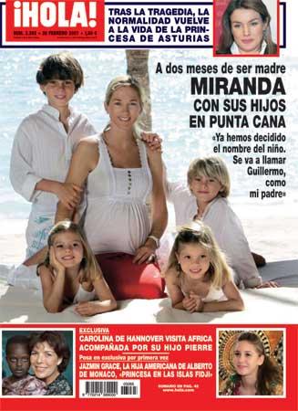 Miranda, la mujer de Julio Iglesias, posa para la revista ¡HOLA! a dos meses de ser madre de nuevo