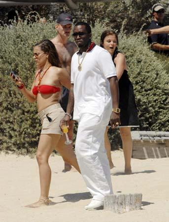 El rapero P. Diddy, de fiesta en Saint Tropez con Bono y Penélope Cruz, tras su ruptura con Kim Porter