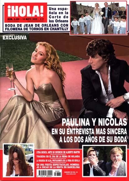 Paulina Rubio y Nicolás Vallejo-Nágera en su entrevista más sincera a los dos años de su boda